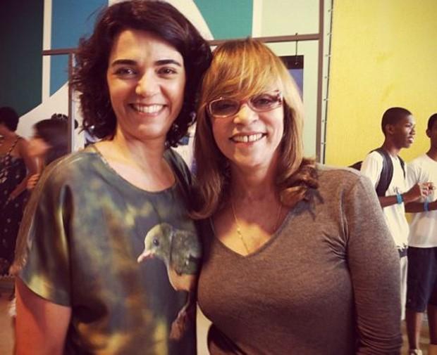Solange Badim e autora Glória Perez (Foto: Reprodução/Instagram)