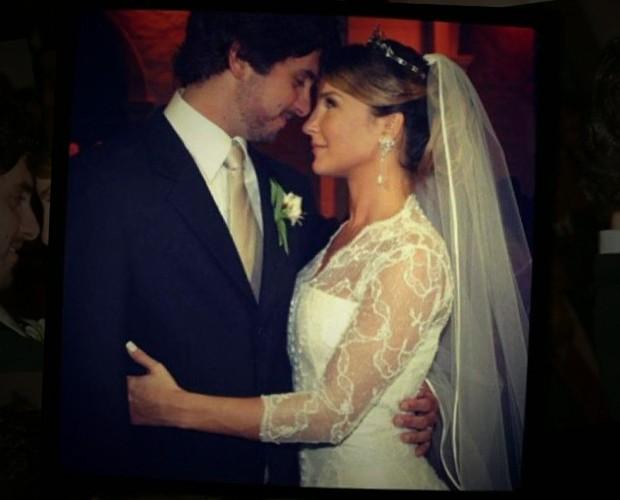 Claúdia Leitte em seu casamento (Foto: TV Globo)
