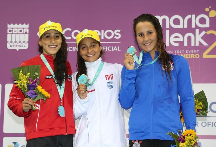 Daynara de Paula e Daiene Dias, natação, Maria Lenk (Foto: Satiro Sodré / SSPress / CBDA)