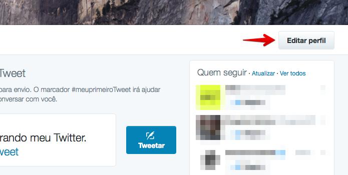 Editando perfil do Twitter (Foto: Reprodução/Helito Bijora)