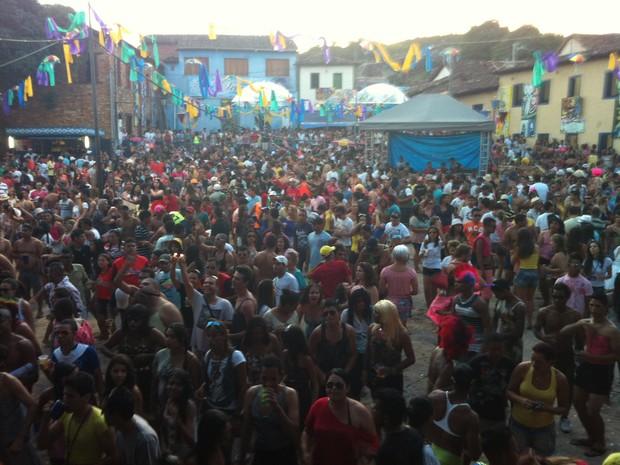 Foliões lotaram os pontos históricos da cidade. (Foto: Délio Pinheiro/G1)