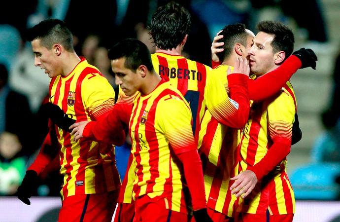 Messi gol Barcelona contra Getafe (Foto: AP)