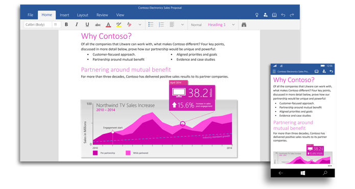 Apps do Office para o Windows 10 foram confirmados (Foto: Divulgação)