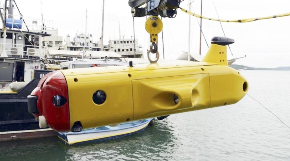 Yellow Submarine. Robô facilita consertos no mar  (Foto: Miguel Ângelo / CNI)