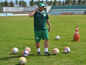 Anthoni Santoro, técnico do Alecrim - Alecrim - treino - Ninho do Periquito (Foto: Jocaff Souza/GloboEsporte.com)