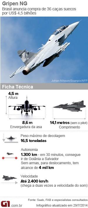 Piloto da FAB testa caça sueco Gripen - GGN