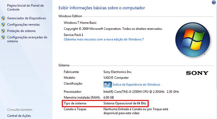 Verifique a versão do Windows (Foto: Reprodução/Paulo Alves)