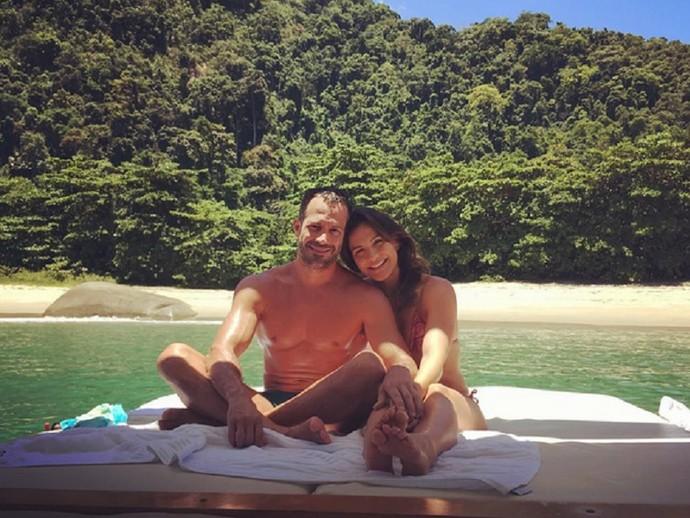 Malvino e Kyra Gracie juntinhos (Foto: Arquivo Pessoal )