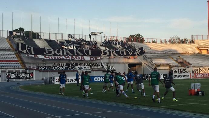 Grêmio no estádio La Carolina, na Venezuela (Foto: Eduardo Moura)