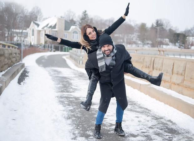Edson Cadorini e a mulher, Deia Cypri (Foto: Anna Paula Pacheco)