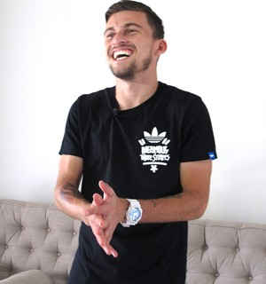 Lucas Lima, Santos (Foto: Bruno Giufrida)