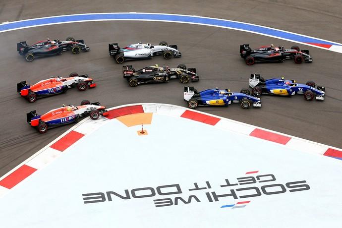 Getty Images: Felipe Massa começou ganhando posições já na largada do GP da Rússia (Foto: Getty Images)