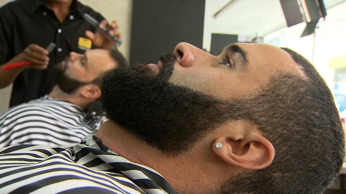 Adeptos ao estilo contam cuidados que têm com os pêlos (Foto: TV Bahia)