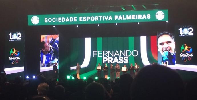 Homenagem Fernando Prass festa Palmeiras (Foto: Tossiro Neto)
