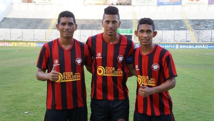 Piuba, Zé Antônio, Anderson Lima - Atlético Potiguar (Foto: Augusto Gomes/GloboEsporte.com)