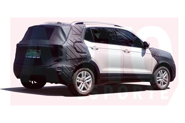 Versão de produção do crossover compacto da Volkswagen foi flagrada com exclusividade (Foto: Autoesporte)