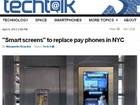 Cabines telefônicas de NY terão telas sensíveis ao toque e acesso à web