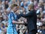 Guardiola elogia De Bruyne e o coloca em patamar logo abaixo de Messi