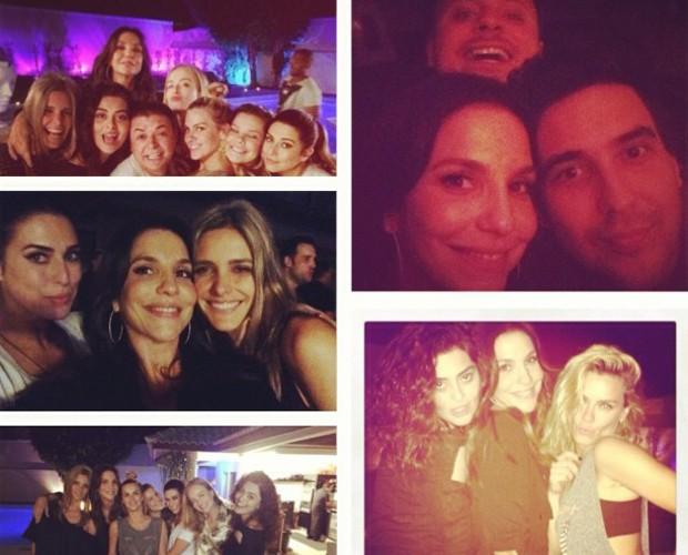 Ivete comemora aniversário antecipado com amigos (Foto: Reprodução Instagram)
