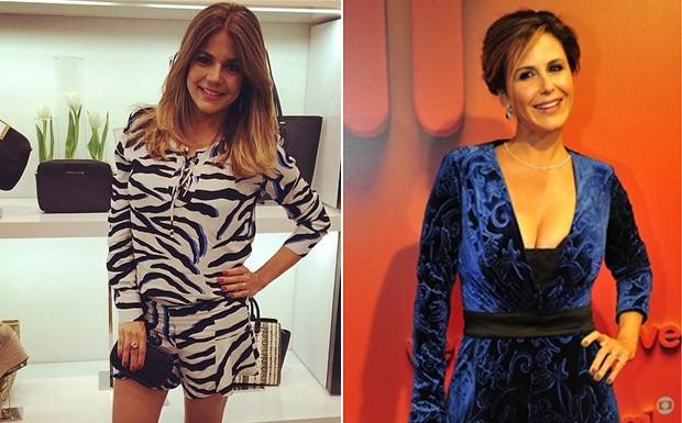 Nvea Stelmann e Guilhermina Guinle do dicas de beleza e boa forma no ps-parto (Foto: Reproduo Instagram / Globo - Alex Carvalho)