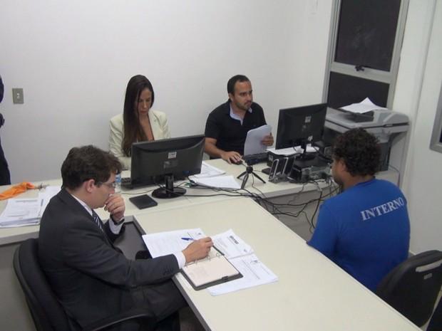 Audiência de custódia no Espírito Santo (Foto: Divulgação/TJ-ES)