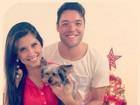 Andressa e Nasser sobre primeiro Natal juntos: 'Família linda demais'