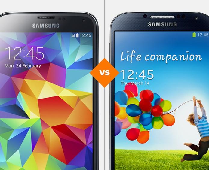 Comparativo Galaxy S5 e Galaxy S4 (Foto: Arte/TechTudo)