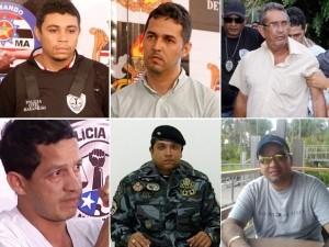 Presos suspeitos de matar o jornalista Décio Sá (Foto: Arte/G1 Maranhão)