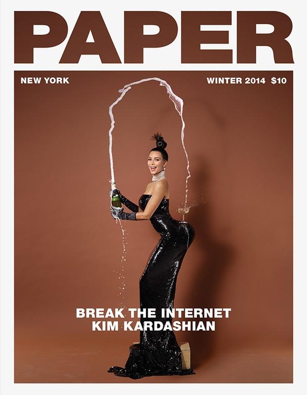 Kim Kardashian na capa da edição de inverno da 'Paper' (Foto: Paper/ Reprodução)
