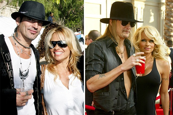 Pamela Anderson, Tommy Lee e Kid Rock (Foto: Getty Images)