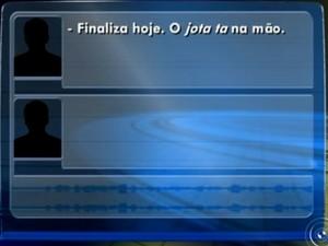 Áudio da conversa foi divulgado pela polícia (Foto: Reprodução/TV TEM)
