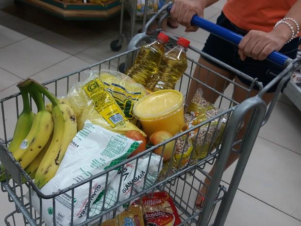 Cesta básica, preço, produtos, alimentos, Amapá, Macapá (Foto: Jorge Abreu/G1)