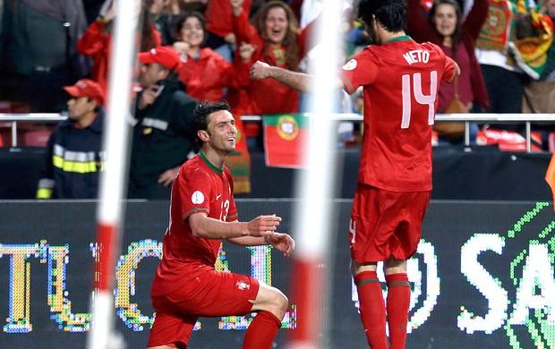 Helder Postiga gol Portugal contra Rússia (Foto: AP)