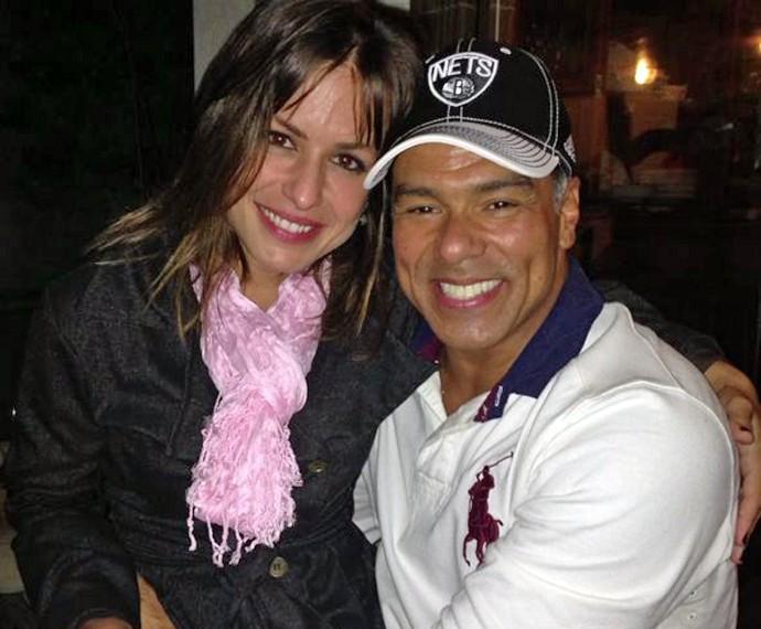 Bianca ao lado do namorado, o cantor Maurício Mattar (Foto: Arquivo pessoal)