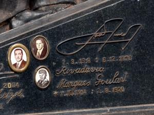 Detalhe da lápide do túmulo de João Goulart (Foto: Prefeitura de São Borja/Divulgação)