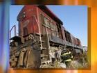 Locomotiva pega fogo em linha férrea próximo a Guararapes