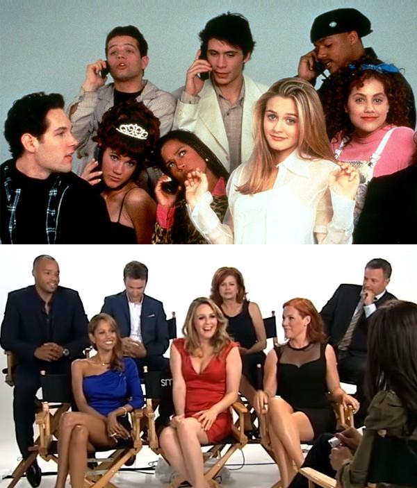 O elenco de 'As Patricinhas de Beverly Hills' em 1995 e hoje (Foto: Reprodução)