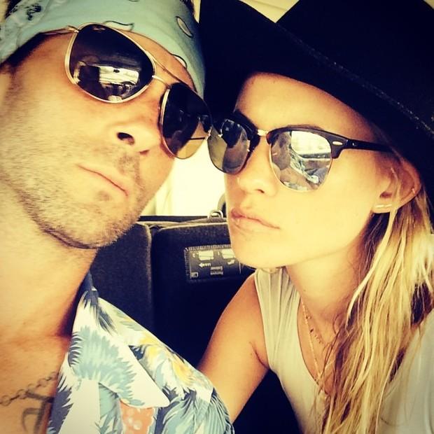 Adam Lavigne e Behati Prinsloo