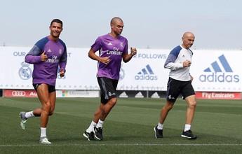 Campeões da Euro, Cristiano Ronaldo e Pepe se reapresentam ao Real