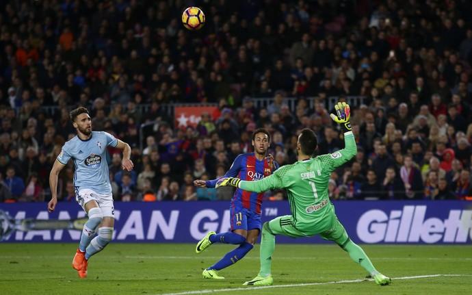 Neymar gol Barcelona Celta (Foto: AP)