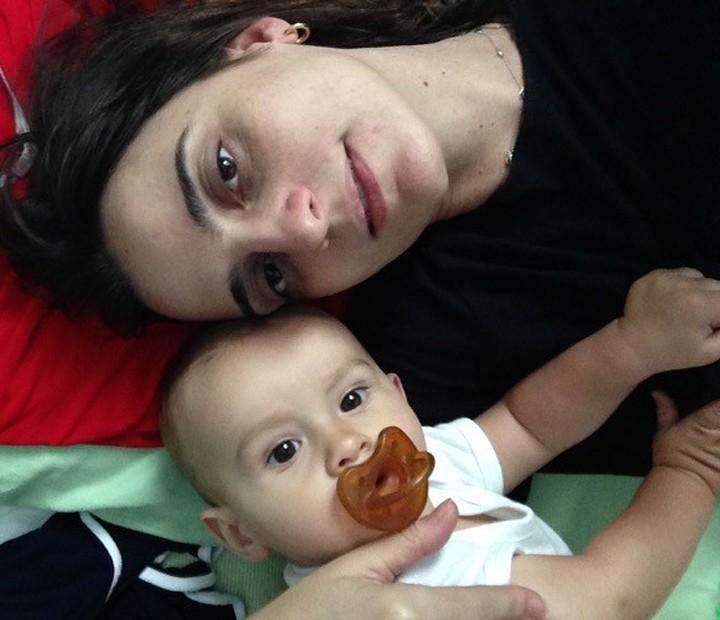 Christiana Kalache curte o pequeno Joaquim em sua casa (Foto: Arquivo Pessoal)