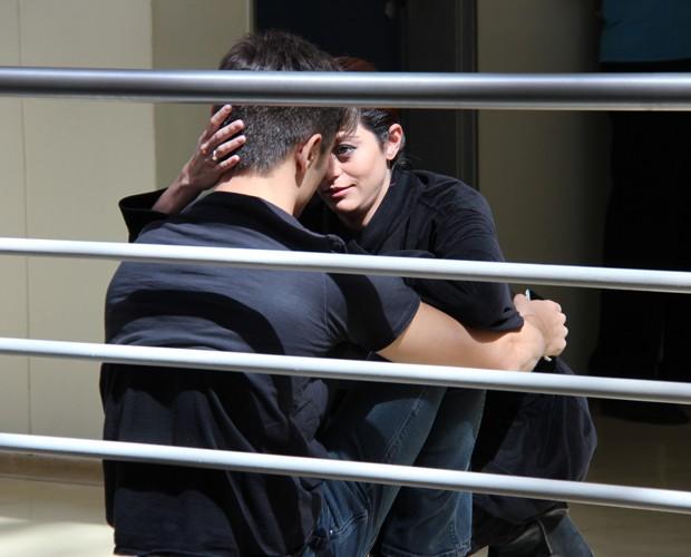 Os dois são só chamego nos bastidores! (Foto: Domingão do Faustão / TV Globo)