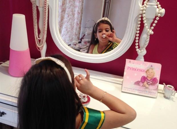 Alicia Ilea, mini miss de Goiânia (Foto: Luísa Gomes/G1)