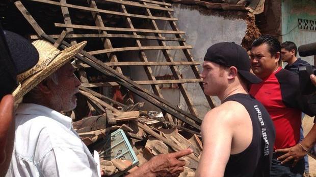 Imagem mostra a destruição na cidade de Quechultenango (Foto: Reprodução/Facebook)