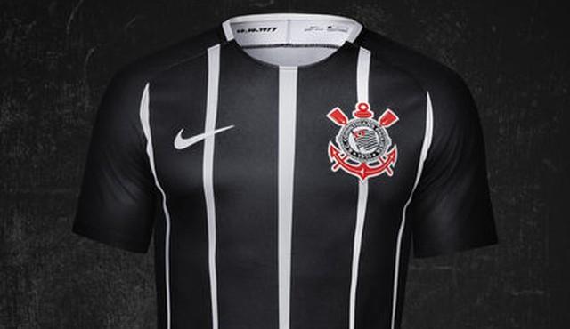 Corinthians estreará segunda camisa no domingo, contra a Ponte; veja o modelo