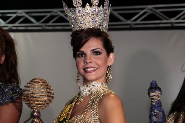 Náthalie Oliveira, a Miss Transex 2015 (Foto: Isac Luz/EGO)