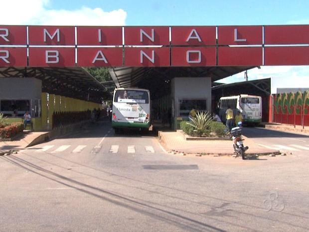 Terminal Urbano de Rio Branco (AC) (Foto: Reprodução TV Acre)