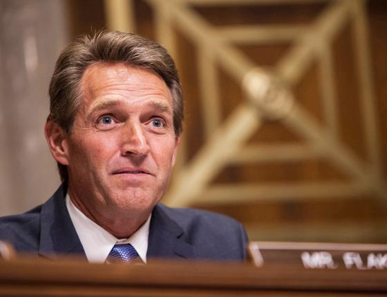 Jeff Flake,54 anos,Senador nos Estados Unidos (Foto: AFP)