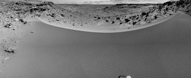 Conjunto de imagens mostra vista panorâmica de Marte feita pelo jipe Curiosity (Foto: Nasa/JPL-Caltech/Reuters)