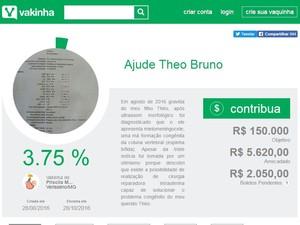 Grávida de Veríssimo faz campanha para realizar cirurgia intrauterina  (Foto: Reprodução/ vakinha.com.br)